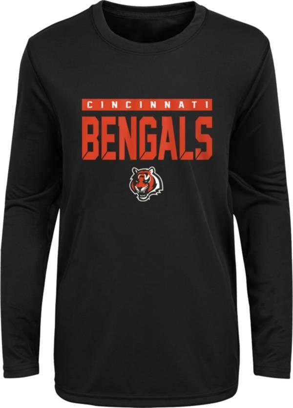 NFL Team Apparel Youth Cincinnati Bengals Orange Training Camp Long Sleeve Shirt product image