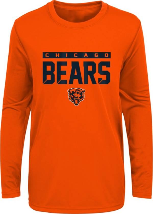NFL Team Apparel Youth Chicago Bears Orange Training Camp Long Sleeve Shirt product image