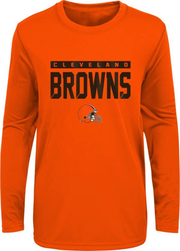 NFL Team Apparel Youth Cleveland Browns Orange Training Camp Long Sleeve Shirt product image
