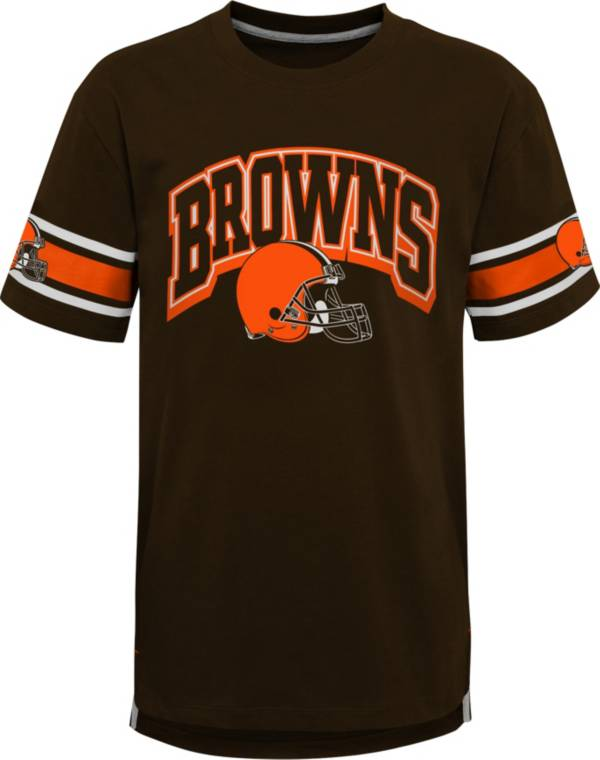 NFL Team Apparel Youth Cleveland Browns Brown Victorious T-Shirt product image