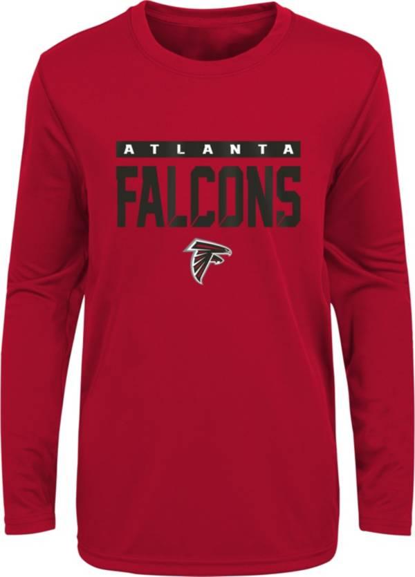 NFL Team Apparel Youth Atlanta Falcons Black Training Camp Long Sleeve Shirt product image