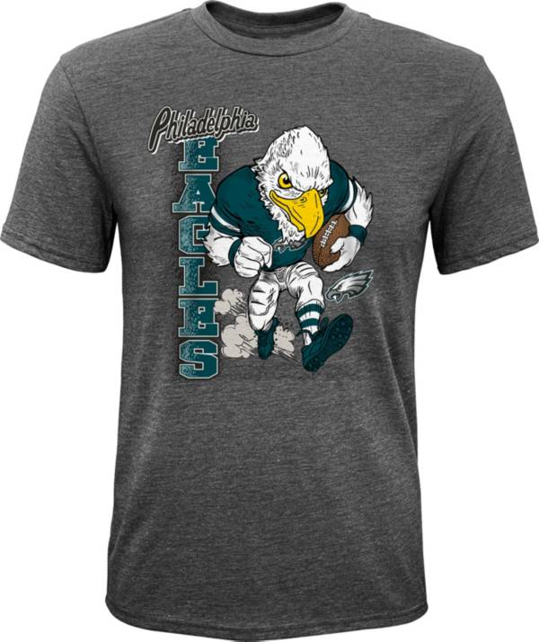 NFL Team Apparel Youth Philadelphia Eagles Dark Grey Heather Bust Loose T-Shirt product image