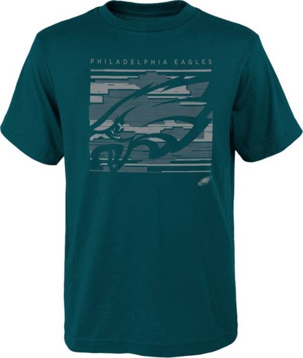 NFL Team Apparel Youth Philadelphia Eagles Green Scatter T-Shirt product image
