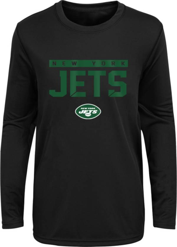 NFL Team Apparel Youth New York Jets Black Training Camp Long Sleeve Shirt product image