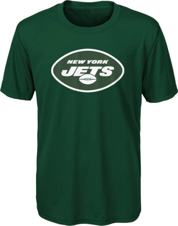 NFL Team Apparel Youth New York Jets Team Logo Green T-Shirt product image