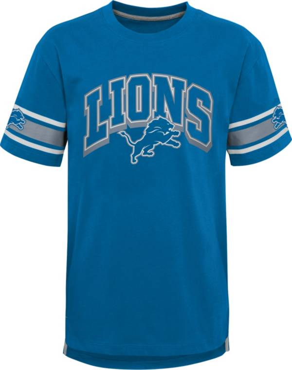 NFL Team Apparel Youth Detroit Lions Blue Victorious T-Shirt product image