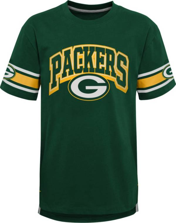 NFL Team Apparel Youth Green Bay Packers Green Victorious T-Shirt product image