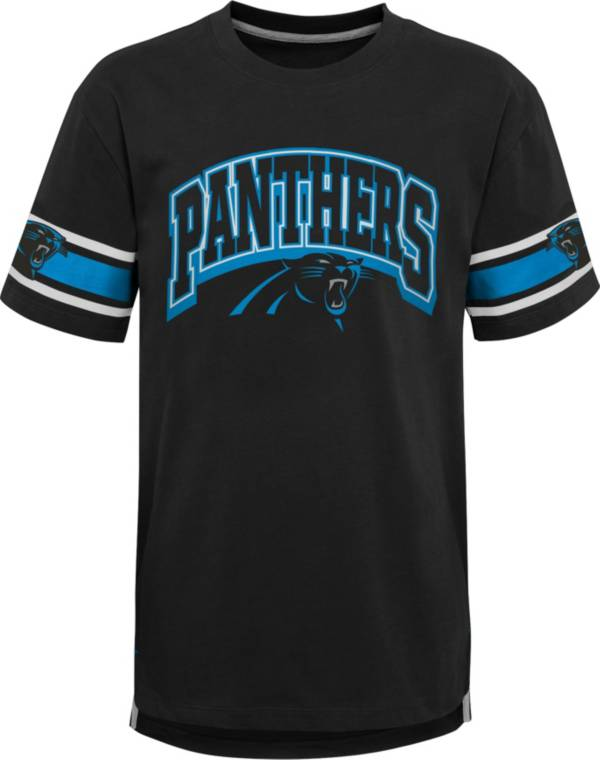 NFL Team Apparel Youth Carolina Panthers Black Victorious T-Shirt product image