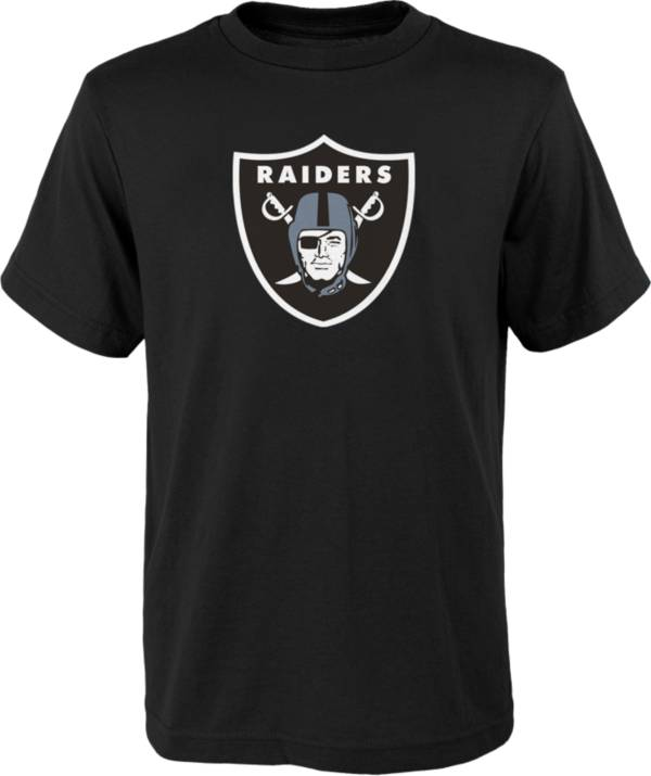 NFL Team Apparel Youth Las Vegas Raiders Team Logo Black T-Shirt product image
