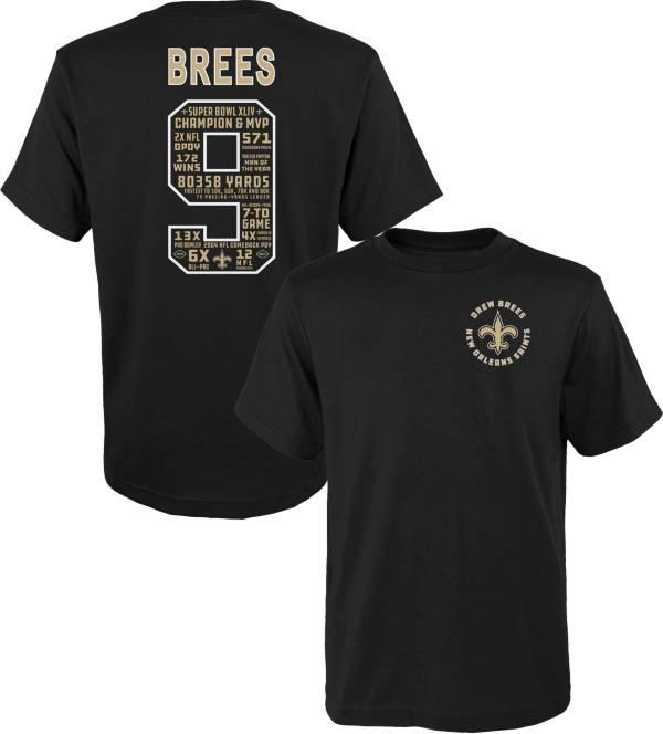 NFL Team Apparel Little Kid's New Orleans Saints Drew Brees #9 Black Short-Sleeve T-Shirt product image