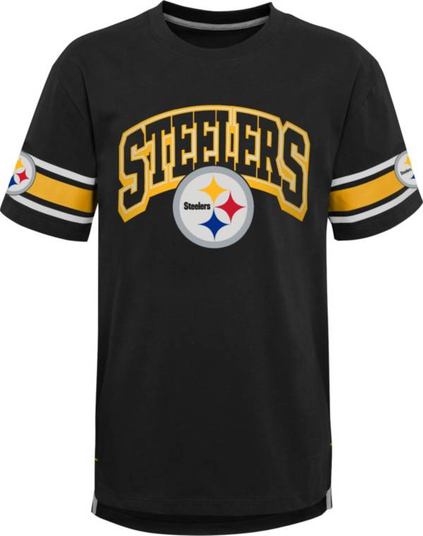 NFL Team Apparel Youth Pittsburgh Steelers Black Victorious T-Shirt product image