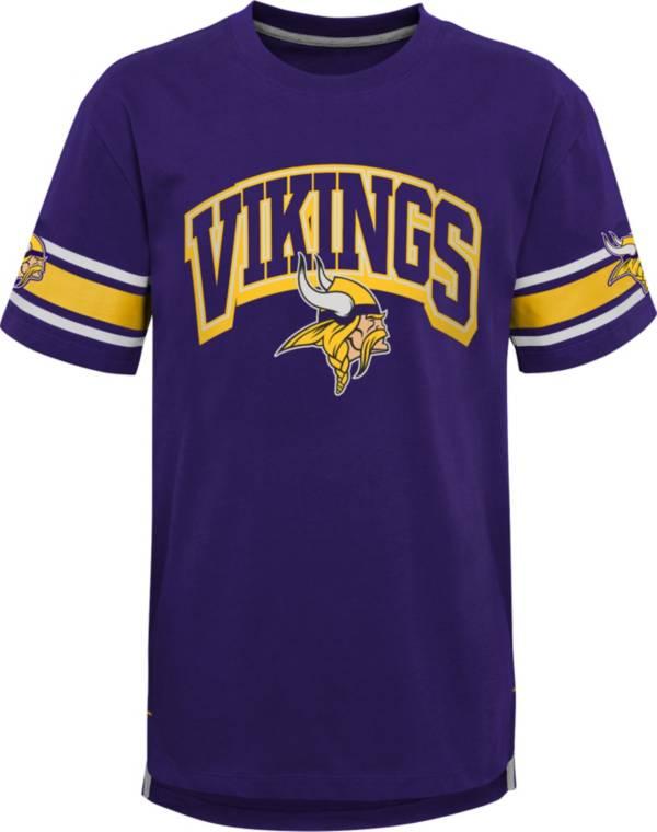 NFL Team Apparel Youth Minnesota Vikings Purple Victorious T-Shirt product image