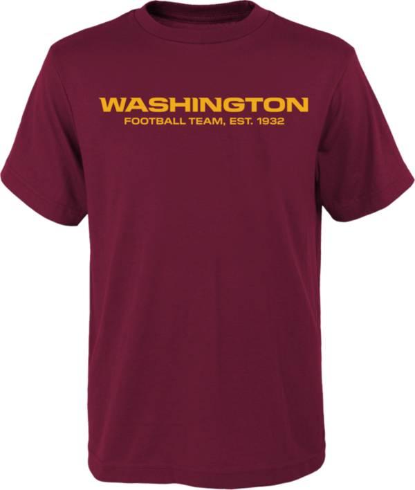 NFL Team Apparel Youth Washington Football Team Team Logo Red T-Shirt product image