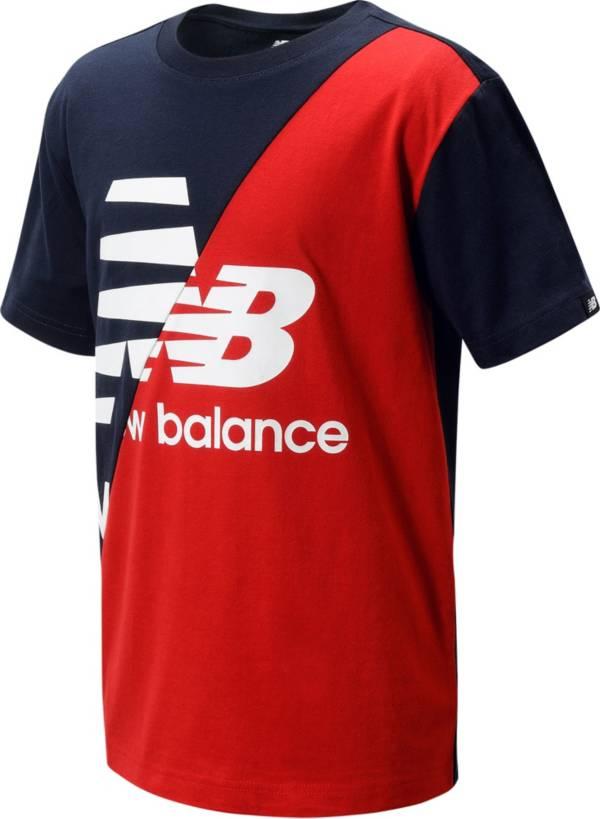 New Balance Boys' Lifestyle Colorblock Short Sleeve T-Shirt product image