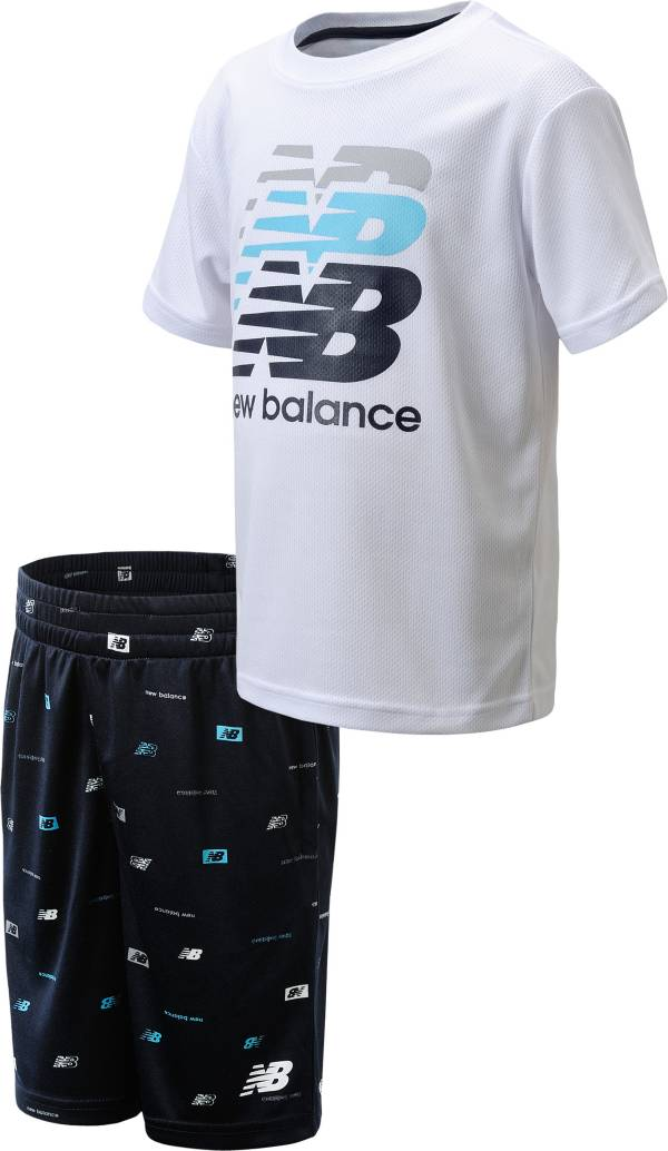 New Balance Little Boys' Logo T-Shirt and Shorts Set product image