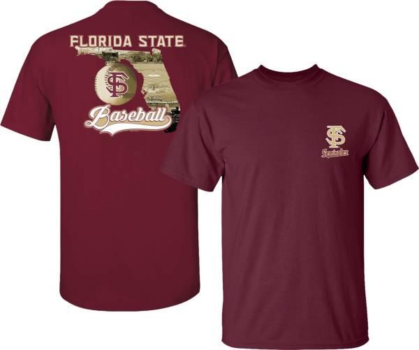 New World Graphics Men's Florida State Seminoles Garnet Baseball State T-Shirt product image
