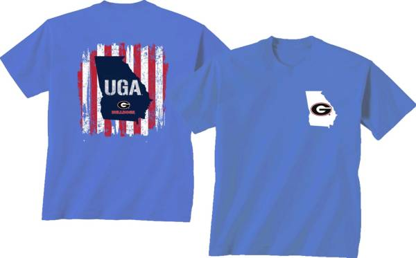 New World Graphics Men's Georgia Bulldogs Blue Americana T-Shirt product image