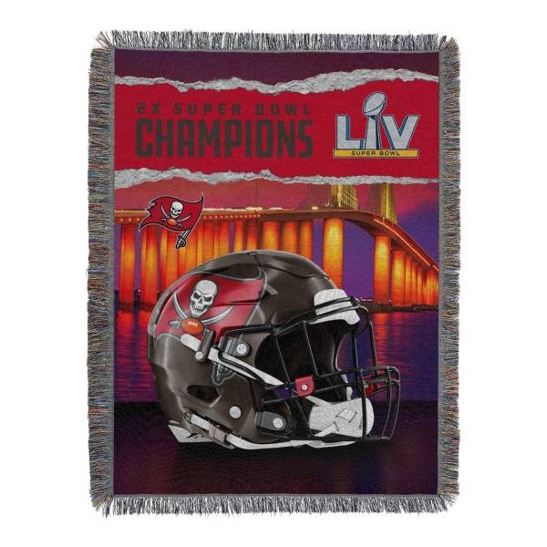 TheNorthwest Super Bowl 2X Champions Tampa Bay Buccaneers Fringe Blanket product image