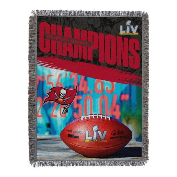 TheNorthwest Super Bowl LV Champions Tampa Bay Buccaneers Fringe Blanket product image