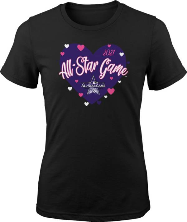 Outerstuff Youth Colorado Rockies Black 2021 All-Star Game Heart T-Shirt product image
