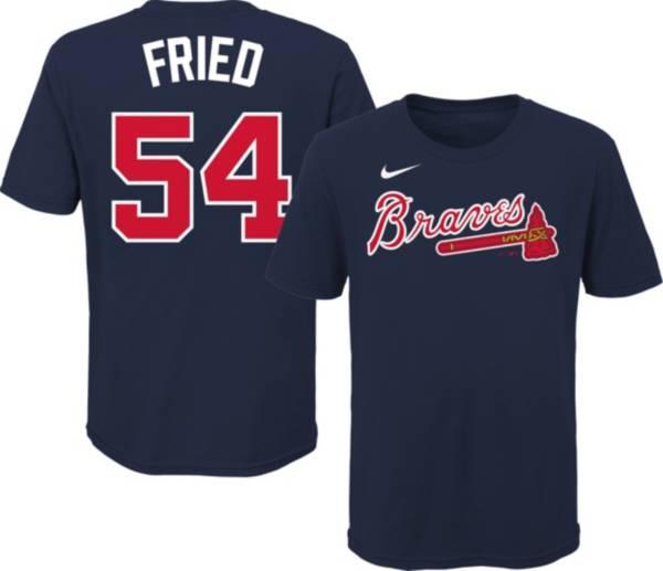 Nike Youth Atlanta Braves Max Fried #54 Navy T-Shirt product image