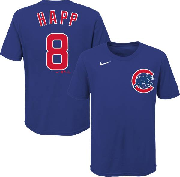 Nike Youth Chicago Cubs Ian Happ #8 Blue T-Shirt product image