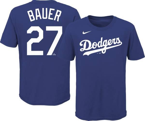 Gen2 Youth Los Angeles Dodgers Trevor Bauer #27 Blue T-Shirt product image