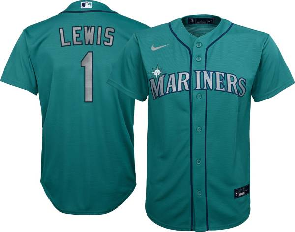 Nike Youth Replica Seattle Mariners Kyle Lewis #1 Green Cool Base Jersey product image