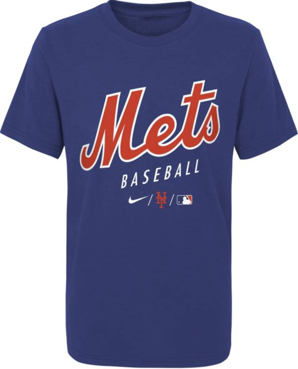 Nike Youth New York Mets Blue Early Work Performance Tri-Blend T-Shirt product image