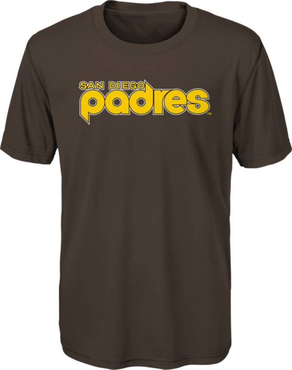 Outerstuff Youth San Diego Padres Brown Bold Dri-Tek T-Shirt product image