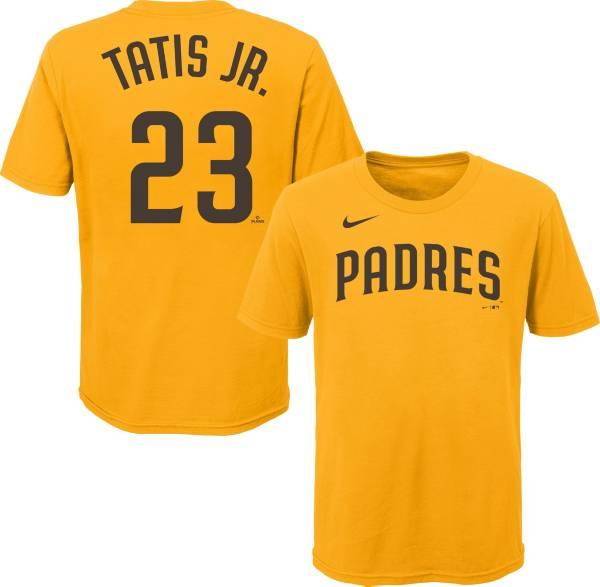 Nike Youth San Diego Padres Fernando Tatis Jr. #23 Yellow T-Shirt product image