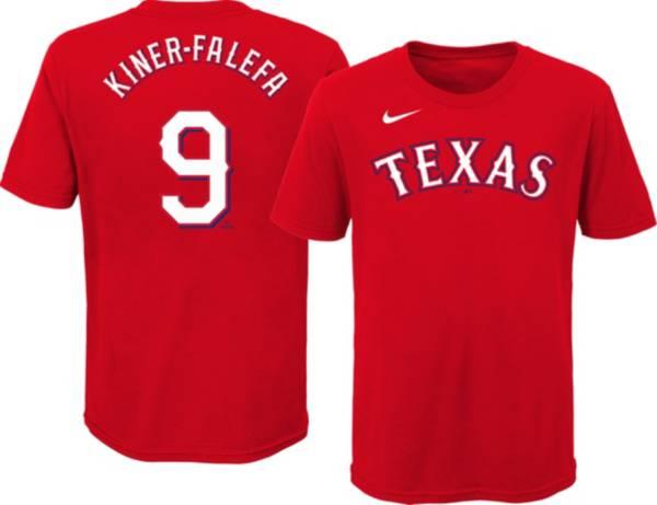 Nike Youth Texas Rangers Isiah Kiner-Falefa #9 Red T-Shirt product image