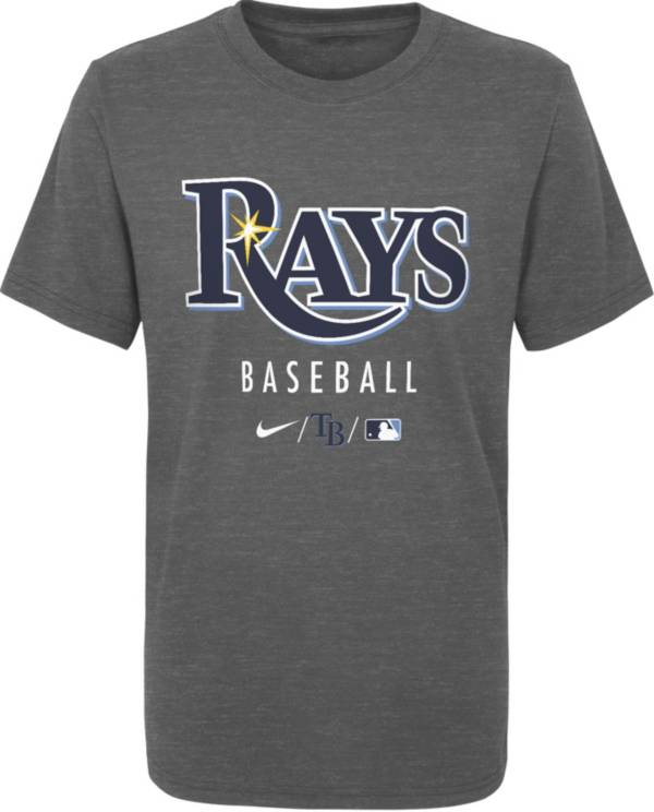 Nike Youth Tampa Bay Rays Grey Early Work Performance Tri-Blend T-Shirt product image