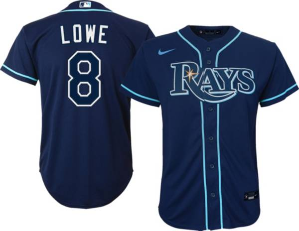 Nike Youth Tampa Bay Rays Brandon Lowe #8 Navy Cool Base Jersey product image