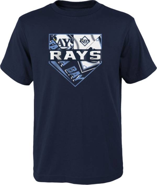 Outerstuff Youth Tampa Bay Rays Navy Logo T-Shirt product image
