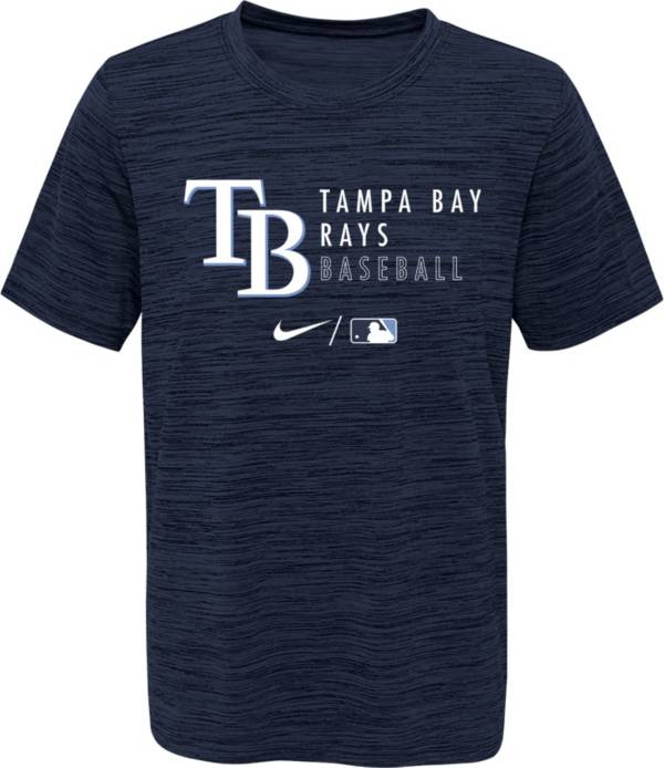 Outerstuff Youth Tampa Bay Rays Velocity Navy Practice T-Shirt product image