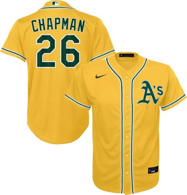 Nike Youth Oakland Athletics Matt Chapman #26 Gold Replica Jersey product image