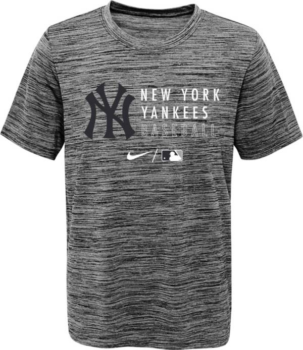 Nike Youth New York Yankees Heathered Grey Velocity Practice Performance T-Shirt product image