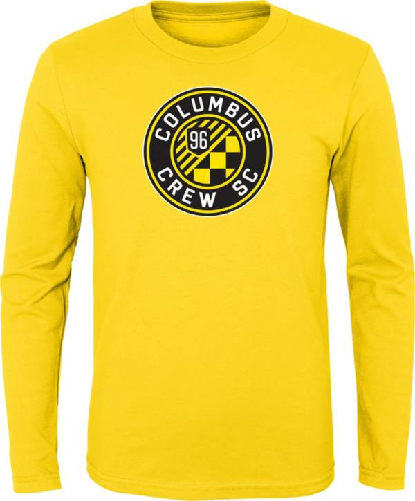 MLS Youth Columbus Crew Primary Logo Yellow T-Shirt product image