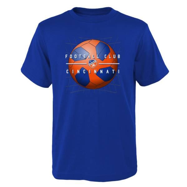 MLS Youth FC Cincinnati Back of the Net Royal T-Shirt product image