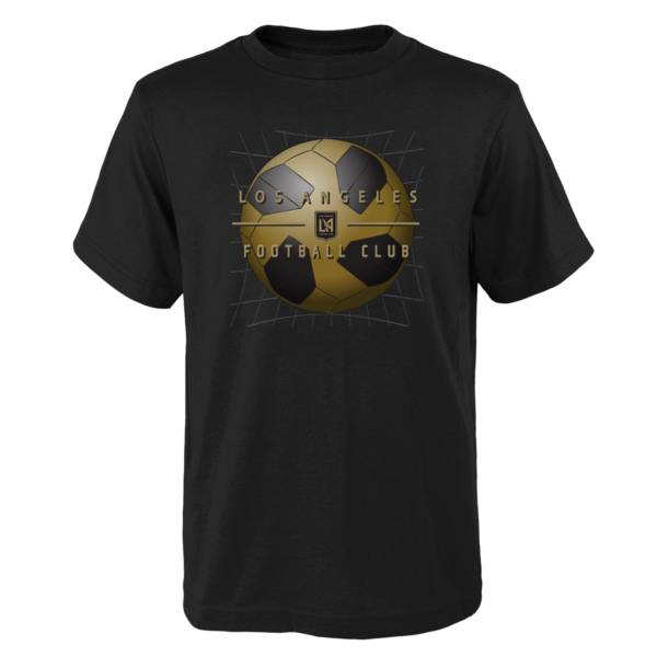 MLS Youth Los Angeles FC Back of the Net Black T-Shirt product image