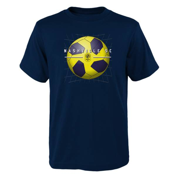 MLS Youth Nashville SC Back of the Net Navy T-Shirt product image