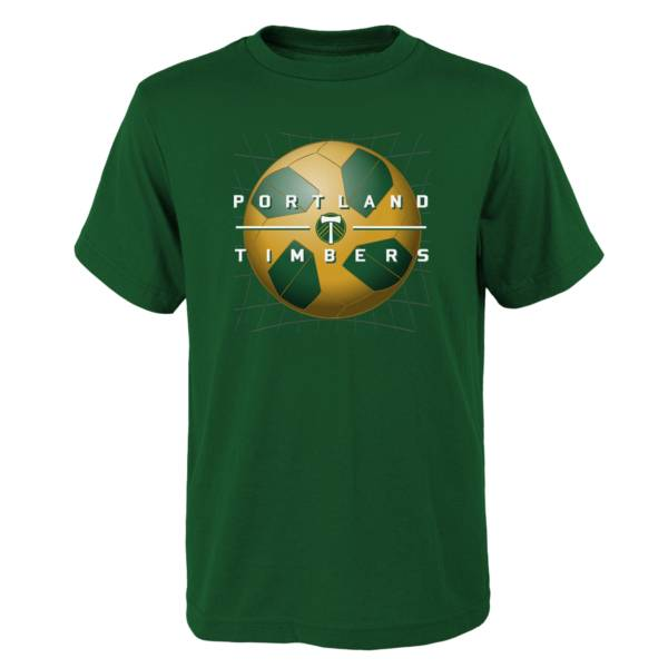 MLS Youth Portland Timbers Back of the Net Green T-Shirt product image