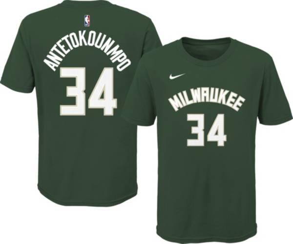 OUterstuff Youth Milwaukee Bucks Giannis Antetokounmpo #34 Green Cotton T-Shirt product image