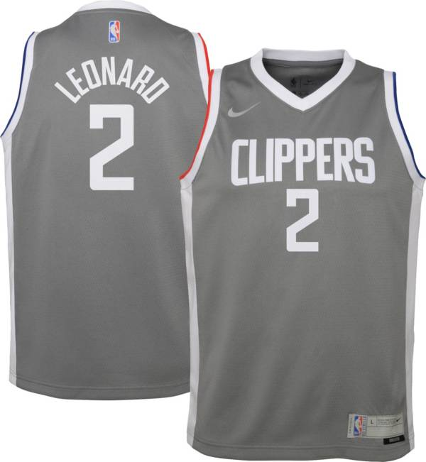 Nike Youth Los Angeles Clippers 2021 Earned Edition Kawhi Leonard  Dri-FIT Swingman Jersey product image