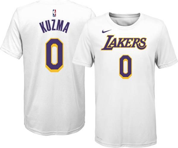 Nike Youth Los Angeles Lakers Kyle Kuzma #0 White T-Shirt product image