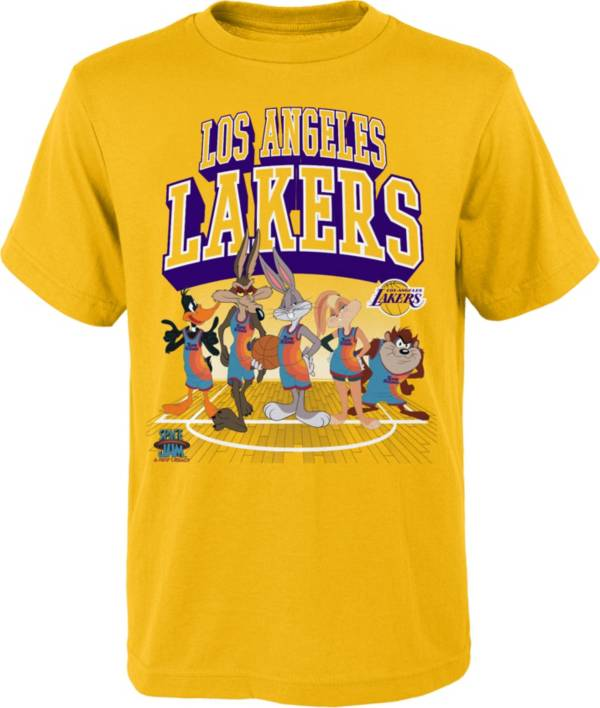 Outerstuff Youth Los Angeles Lakers Space Jam Looney Tunes Yellow T-Shirt product image