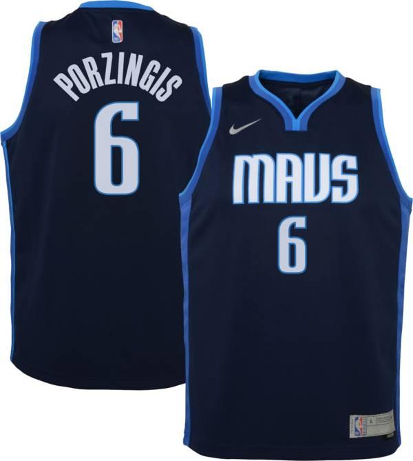 Nike Youth Dallas Mavericks 2021 Earned Edition Kristaps Porzingis Dri-FIT Swingman Jersey product image