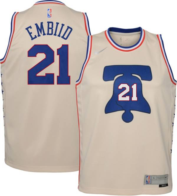 Nike Youth Philadelphia 76ers 2021 Earned Edition Joel Embiid Dri-FIT Swingman Jersey product image