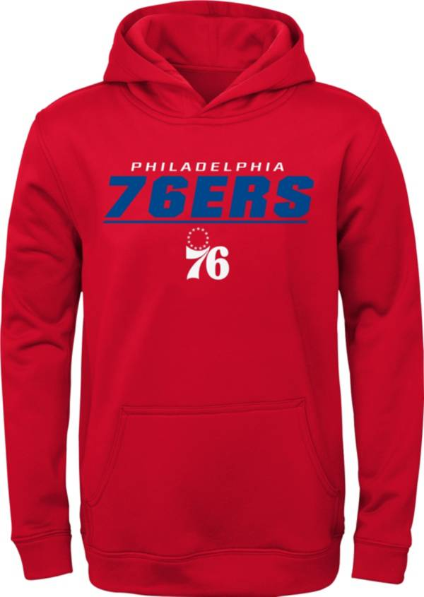 Outerstuff Youth Philadelphia 76ers Red Static Pullover Hoodie product image